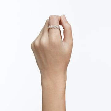 Prsten Angelic, Bílý, Pokovený růžovým zlatem - Swarovski, 5441199
