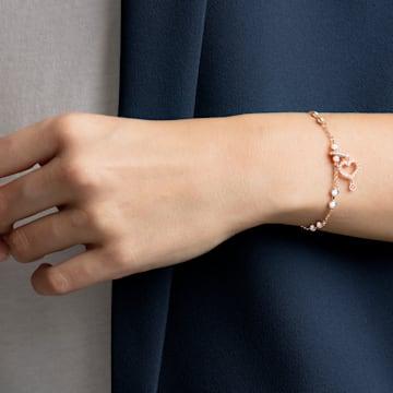 Swarovski Remix Collection Heart Charm, weiss, Rosé vergoldet - Swarovski, 5441398