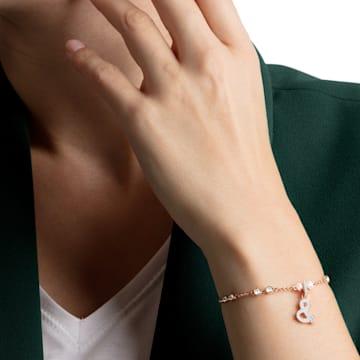 Swarovski Remix Collection & Charm, Белый Кристалл, Покрытие оттенка розового золота - Swarovski, 5441403