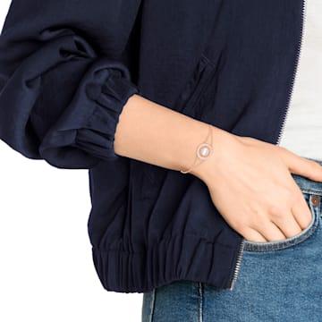 Admiration bracelet, White, Rose-gold tone plated - Swarovski, 5444068