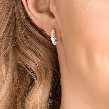Orecchini Stone, bianco, Placcatura rodio - Swarovski, 5446004