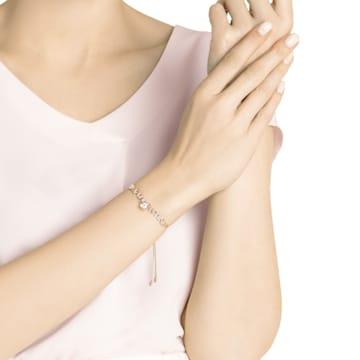 Melt Your Heart Bracelet, White, Rose-gold tone plated - Swarovski, 5446017