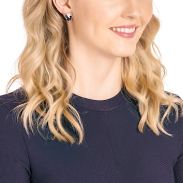 Make 穿孔耳環, 多色設計, 鍍玫瑰金色調 - Swarovski, 5446241