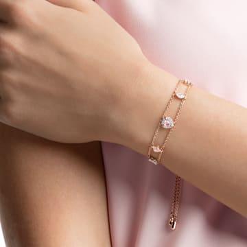 One 手链, 彩色设计, 镀玫瑰金色调 - Swarovski, 5446304