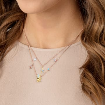 Ocean 項鏈, 多色設計, 混搭多種鍍層 - Swarovski, 5446664