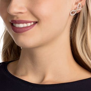 Boucles d'oreilles Lifelong Bow, blanc, Finition mix de métal - Swarovski, 5447089