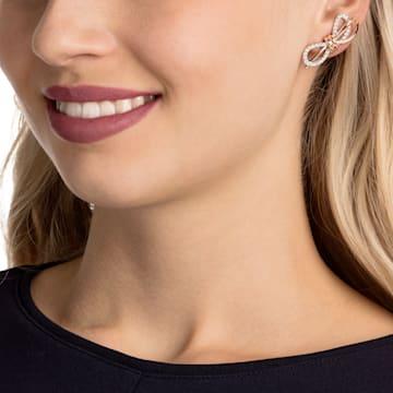 Lifelong masni bedugós fülbevaló, fehér, vegyes fémbevonattal - Swarovski, 5447089