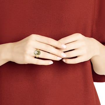 Magnetic 图章戒指, 彩色设计, 多种金属润饰 - Swarovski, 5448773