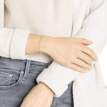 Swarovski Remix-collectie armband, Wit, Roségoudkleurige toplaag - Swarovski, 5451032