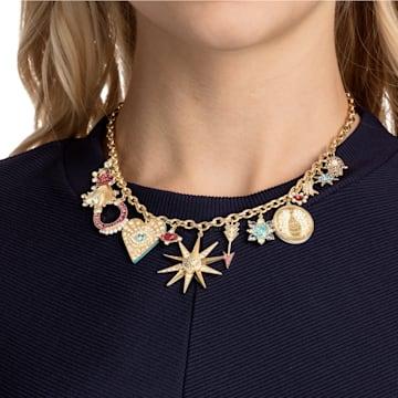 Collar Lucky Goddess Charms, multicolor, Baño en tono Oro - Swarovski, 5451263