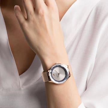 Octea Nova-horloge, Milanese armband, Grijs, Roségoudkleurig PVD - Swarovski, 5451634