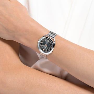 Crystalline Glam Uhr, Metallarmband, grau, Edelstahl - Swarovski, 5452468