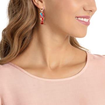 Ocean Lobster Pierced Earrings, Multi-colored, Rose-gold tone plated - Swarovski, 5452555