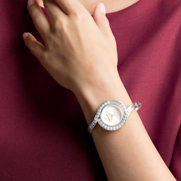 Orologio Lovely Crystals Bangle, Bracciale di metallo, bianco, acciaio inossidabile - Swarovski, 5453655