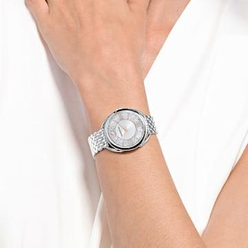 Ceas Crystalline Glam, brățară de metal, alb, oțel inoxidabil - Swarovski, 5455108