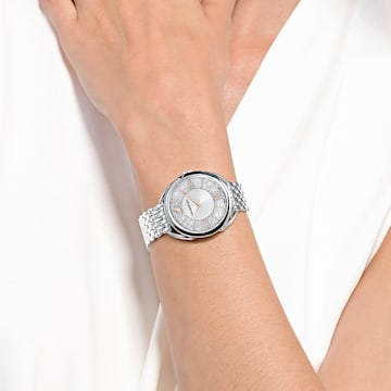 Crystalline Glam 手錶, 金屬手鏈, 銀色, 不銹鋼 - Swarovski, 5455108