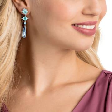 Olive 穿孔耳環, 多色設計, 鍍白金色 - Swarovski, 5456892
