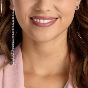 Ocean View Pierced Earrings, Multi-coloured, Rhodium plated - Swarovski, 5457405