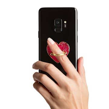 Glam Rock 手機指環, 紅色, 混搭多種鍍層 - Swarovski, 5457473