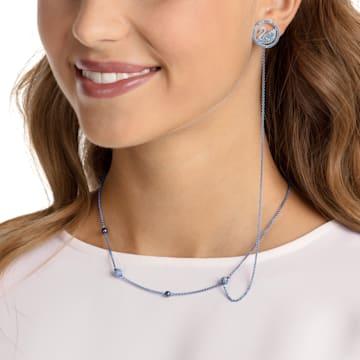 Pop Swan Necklace, Purple, Lilac PVD coating - Swarovski, 5457764