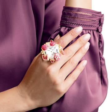 Optimum Cocktail 戒指, 多色設計, 鍍金色色調 - Swarovski, 5458832