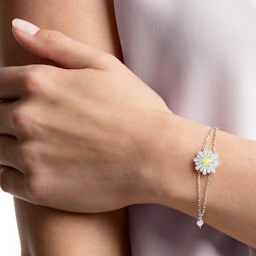 Sunshine 手链, 白色, 镀铑 - Swarovski, 5459594