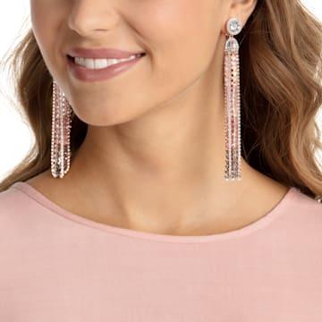 Ocean View 夾式耳環, 多色設計, 鍍玫瑰金色調 - Swarovski, 5459965