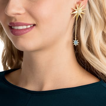 Boucles d'oreilles Lucky Goddess, multicolore, Métal doré - Swarovski, 5464169