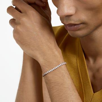Tennis Bracelet, White, Rose-gold tone plated - Swarovski, 5464948