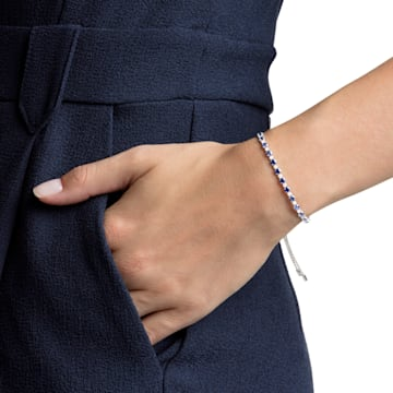 Subtle 手链, 蓝色, 镀铑 - Swarovski, 5465383