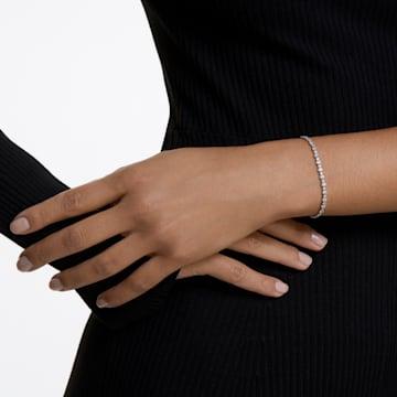 Subtle-armband, Wit, Rodium-verguld - Swarovski, 5465384