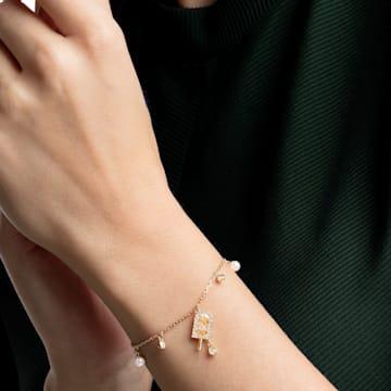 No Regrets Ice Cream 手鏈, 多色設計, 鍍金色色調 - Swarovski, 5465411