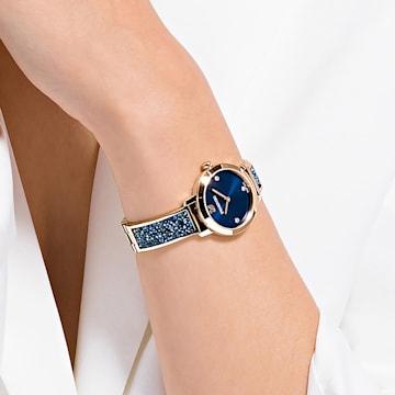 Cosmic Rock-horloge, Metalen armband, Blauw, Roségoudkleurig PVD - Swarovski, 5466209