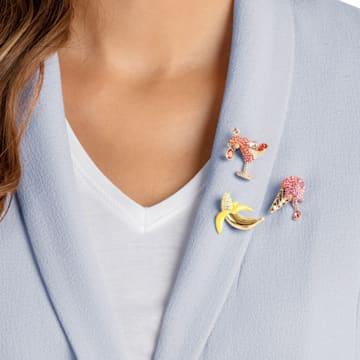 No Regrets 胸针套装, 彩色设计, 镀金色调 - Swarovski, 5468254