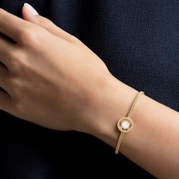 Oxygen bangle, Medium, Multicolored, Gold-tone plated - Swarovski, 5468722