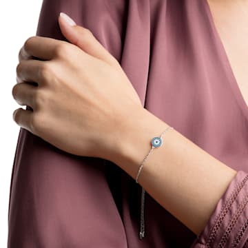 Luckily Bracelet, Multi-colored, Rhodium plated - Swarovski, 5468920