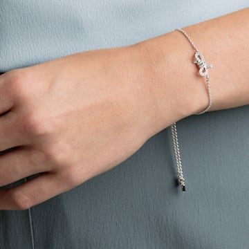 Bracelet Lifelong Bow, blanc, Métal rhodié - Swarovski, 5469983