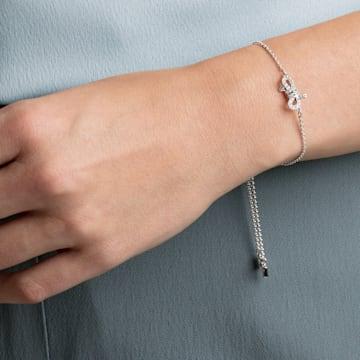 Lifelong Bow Armband, weiss, Rhodiniert - Swarovski, 5469983