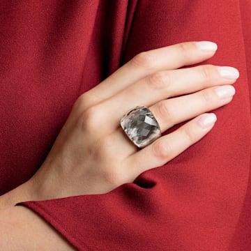 Swarovski Nirvana Кольцо, Серый Кристалл, PVD-покрытие оттенка золота - Swarovski, 5470027
