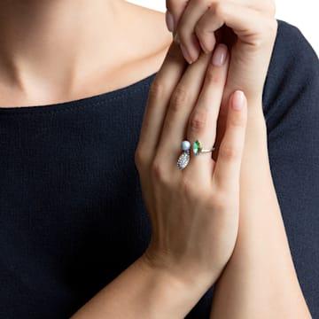 Organic Motif Ring, Multi-colored, Rhodium plated - Swarovski, 5470518