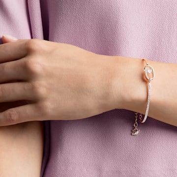 North 手链, 白色, 镀玫瑰金色调 - Swarovski, 5472382