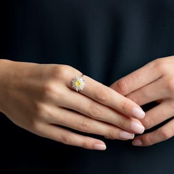 Sunshine Ring, Yellow, Rhodium plated - Swarovski, 5472481