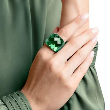 Pierścionek Nirvana Swarovski, zielony, powłoka PVD w odcieniu złota - Swarovski, 5474365
