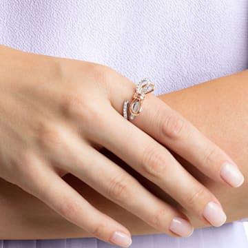 Lifelong masni gyűrű, közepes, fehér, vegyes fémbevonattal - Swarovski, 5474930