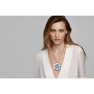Pendentif Evil Eye, bleu, métal doré - Swarovski, 5477560