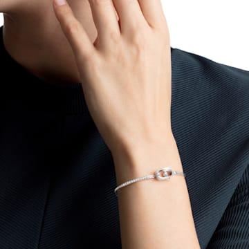 Sparkling Dance Bracelet, Blue, Rhodium plated - Swarovski, 5479120