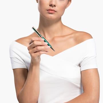 Długopis Crystalline, niebieski, powłoka w odcieniu różowego złota - Swarovski, 5479547