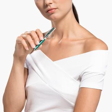 Długopis Crystalline, zielony, powłoka w odcieniu różowego złota - Swarovski, 5479562