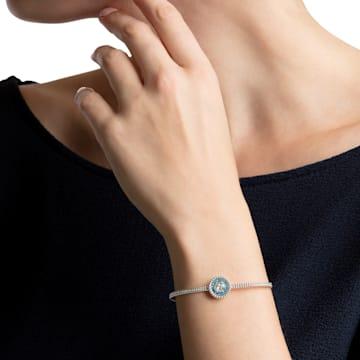 Bracelet-jonc Oxygen, bleu, Métal rhodié - Swarovski, 5479935