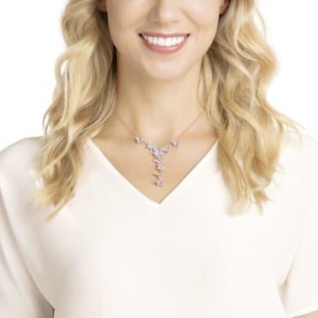 Lilia Y-Halskette, weiss, Rosé vergoldet - Swarovski, 5480512